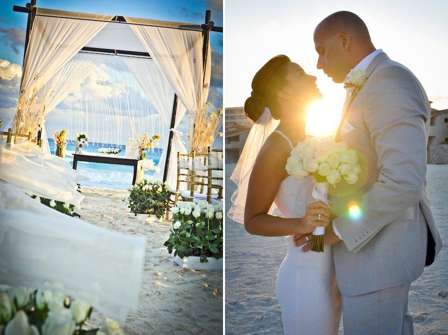 Le Blanc Spa Resort Hotel Wedding Sunset