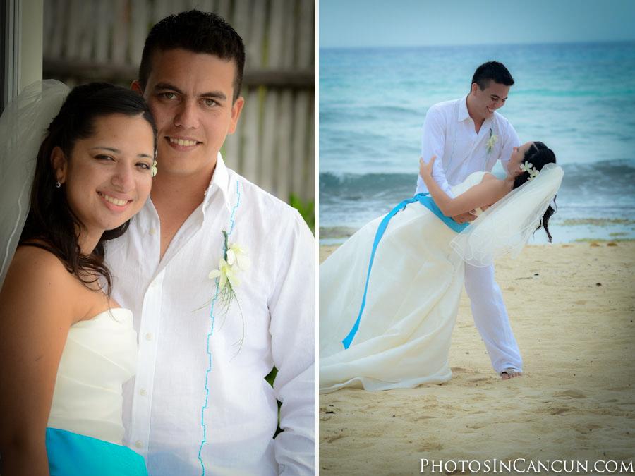 Beach Wedding photographer Puerto Morelos Mexico