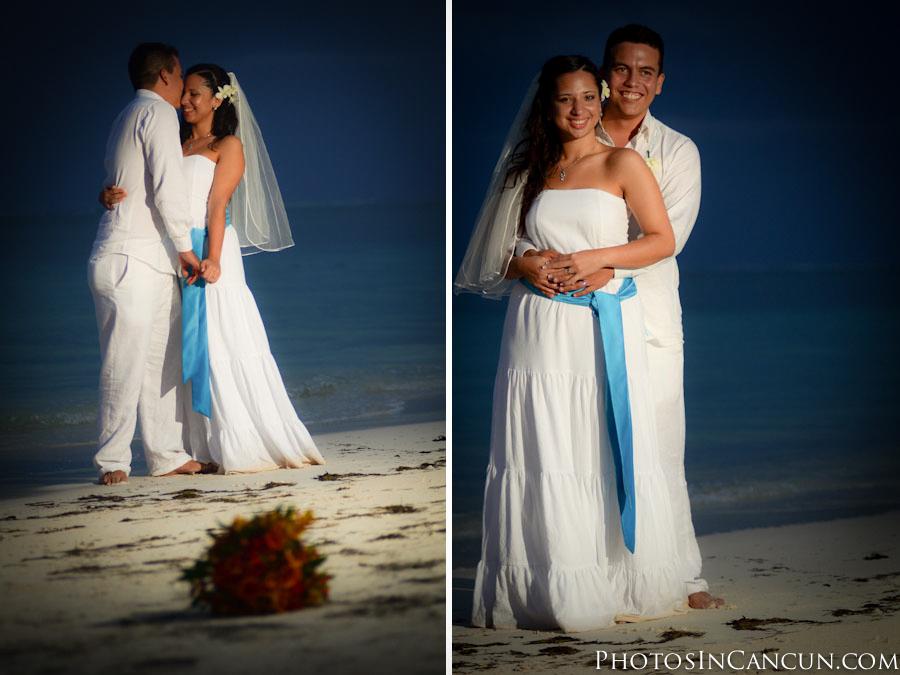 Wedding photos Puerto Morelos Mexico