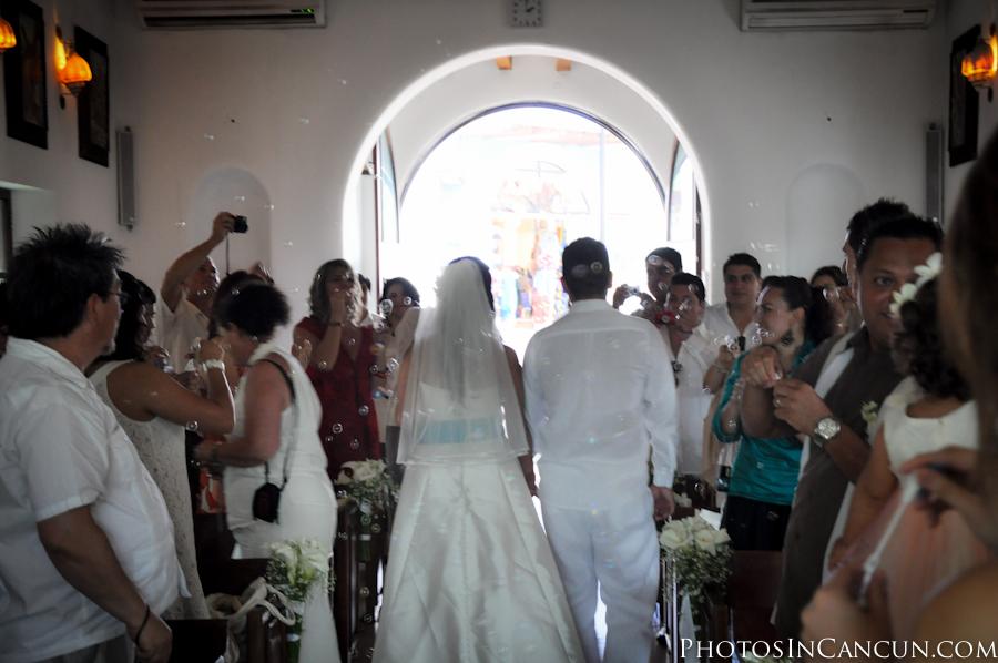 Wedding photo Puerto Morelos