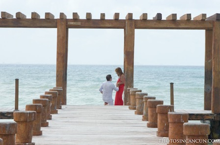 Beach Wedding Proposal Photographer In Mexico