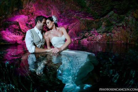 Trash the Wedding Dress Cancun Mexico Cenotes thumbnail