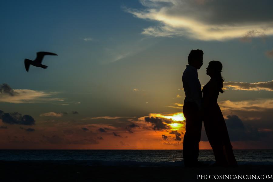 Save The Date Sunrise in Cancun