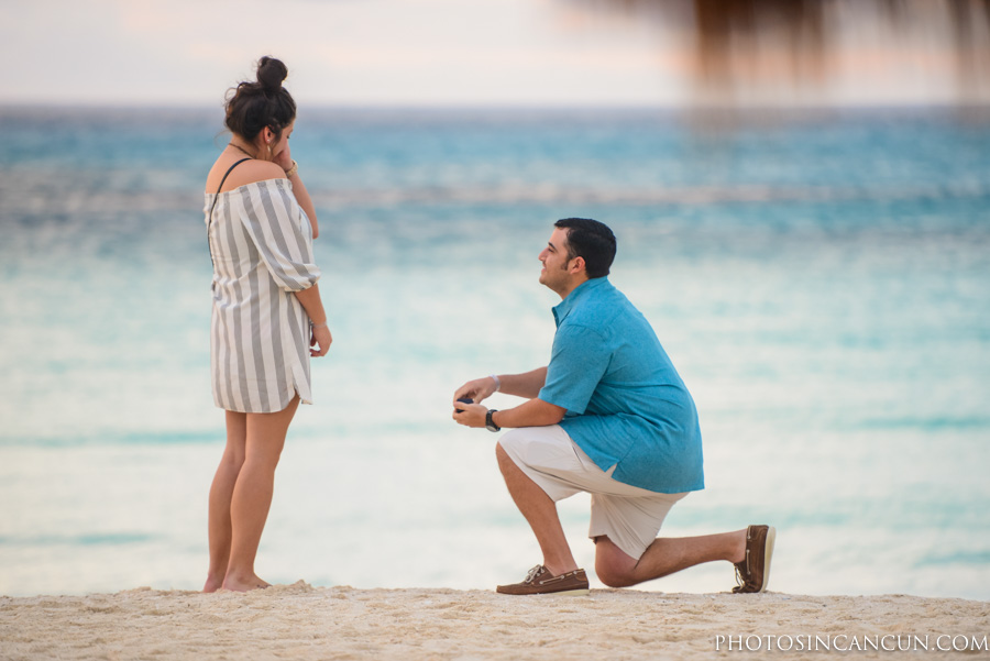Surprise Proposal Photos in Cancun Mexico