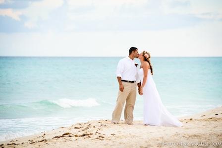 Beach Wedding Now Resorts Mexico Photography
