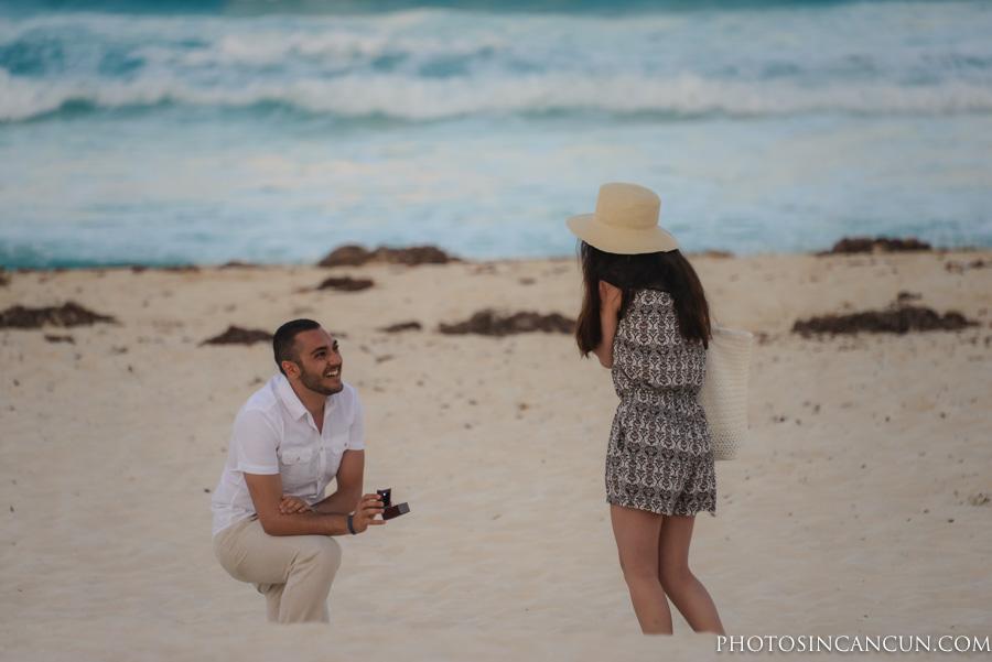 Live Aqua Surprise Proposal Engagement