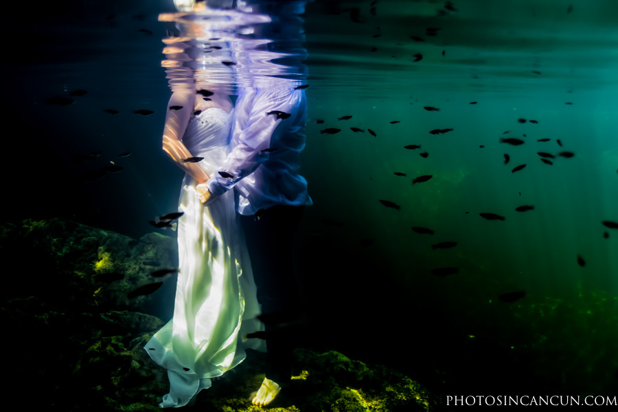Mayan Riviera Cenote Trash The Dress Adventure